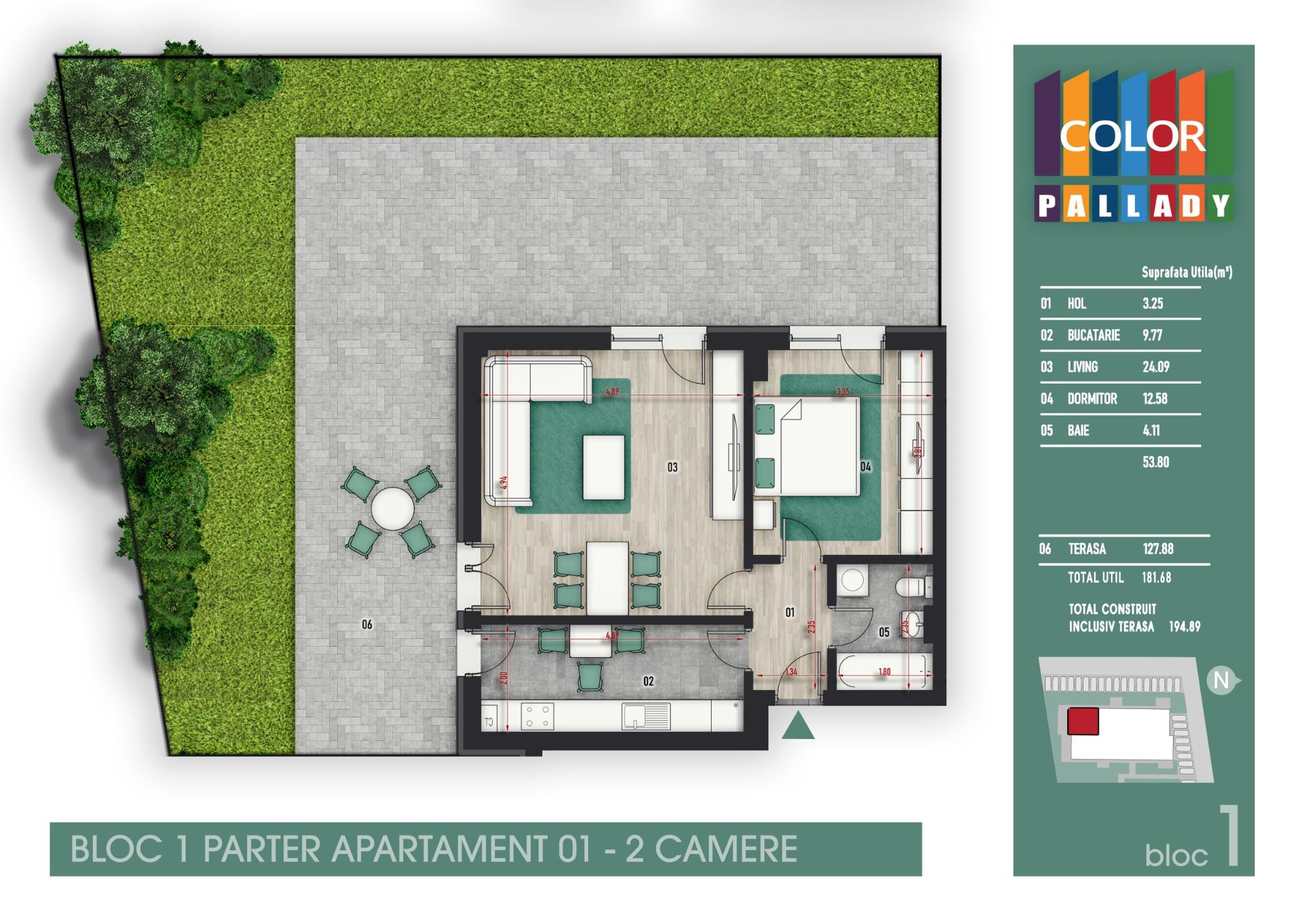 Bloc 1 - Parter - Apartament 01