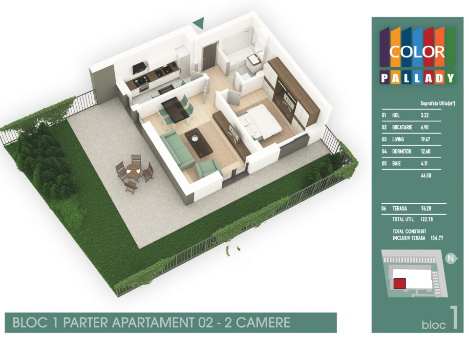 Bloc 1 – Parter – Apartament 02