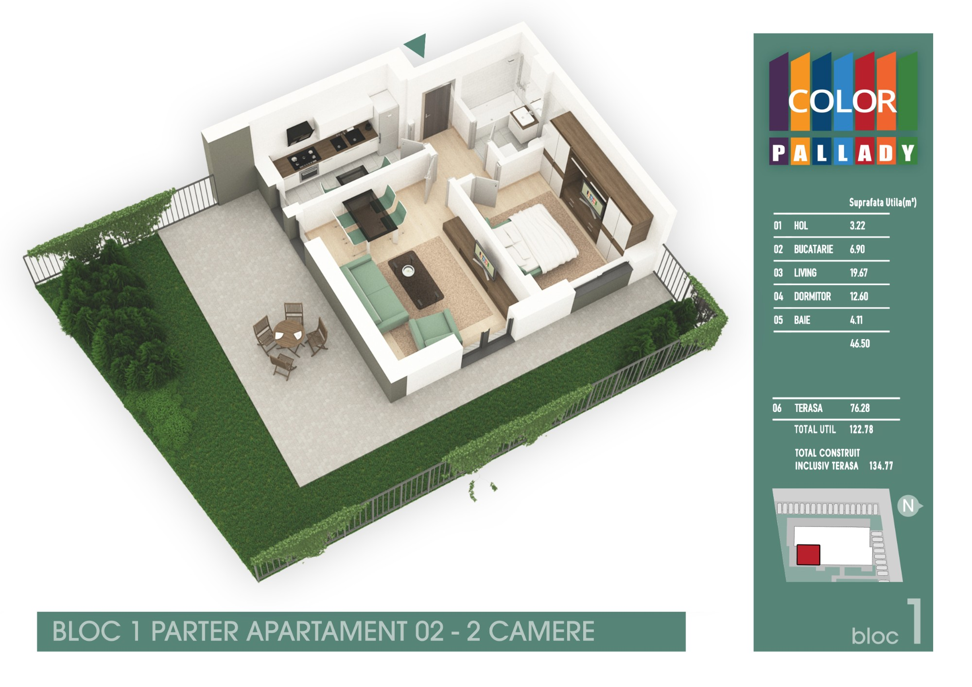Bloc 1 - Parter - Apartament 02