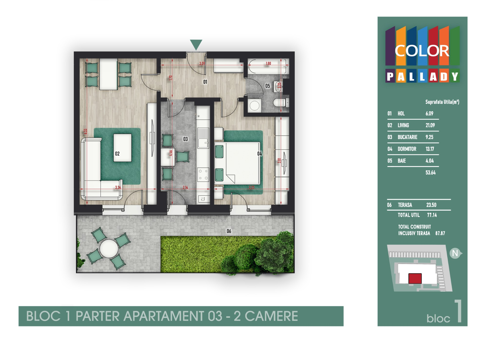 Bloc 1 - Parter - Apartament 03