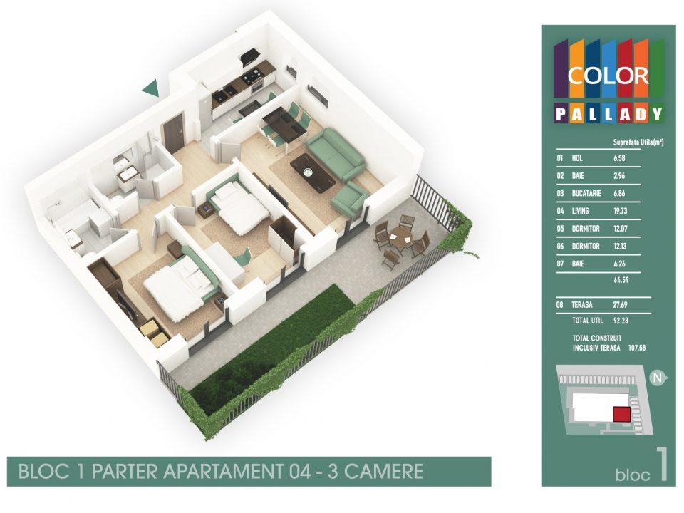 Bloc 1 – Parter – Apartament 04