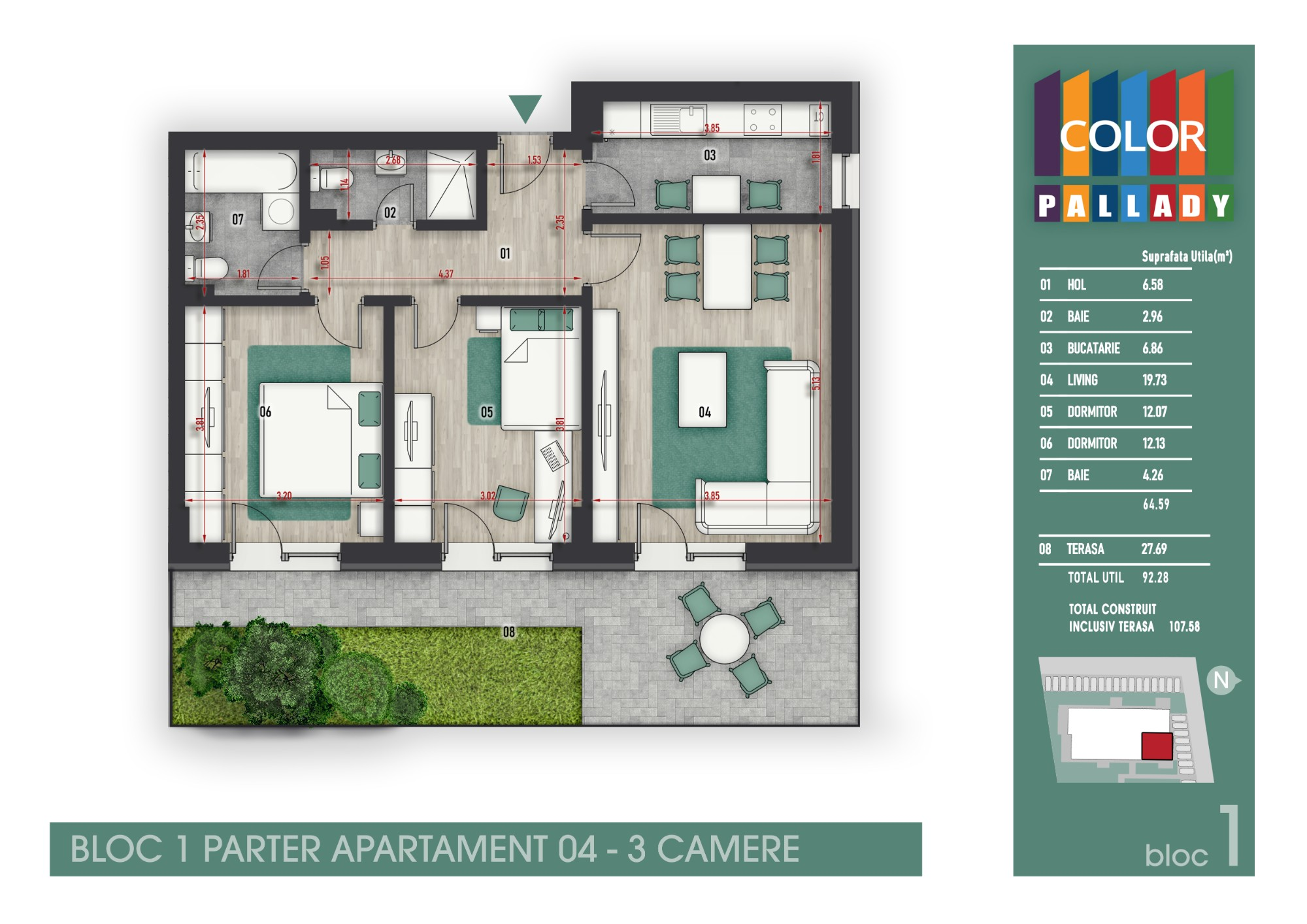 Bloc 1 - Parter - Apartament 04