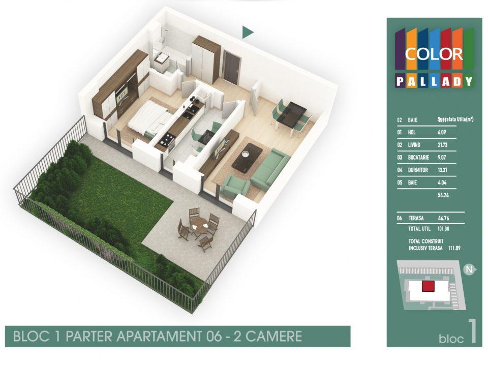 Bloc 1 – Parter – Apartament 06