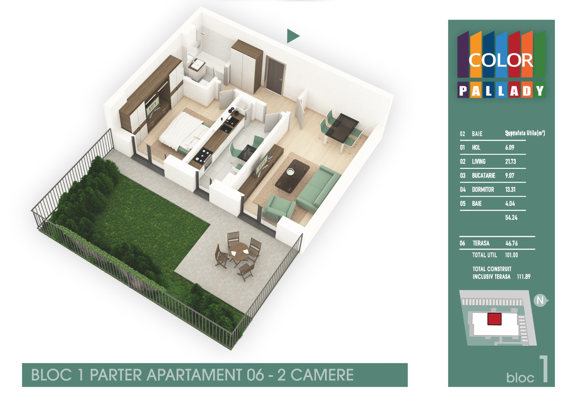 Bloc 1 - Parter - Apartament 06