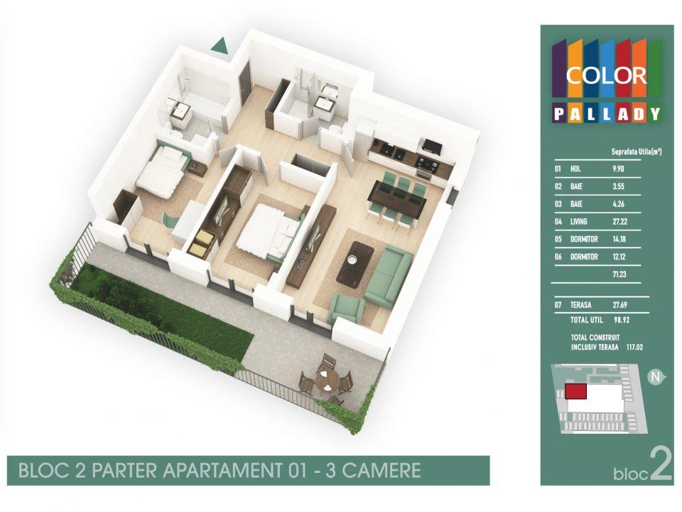 Bloc 2 – Parter – Apartament 01