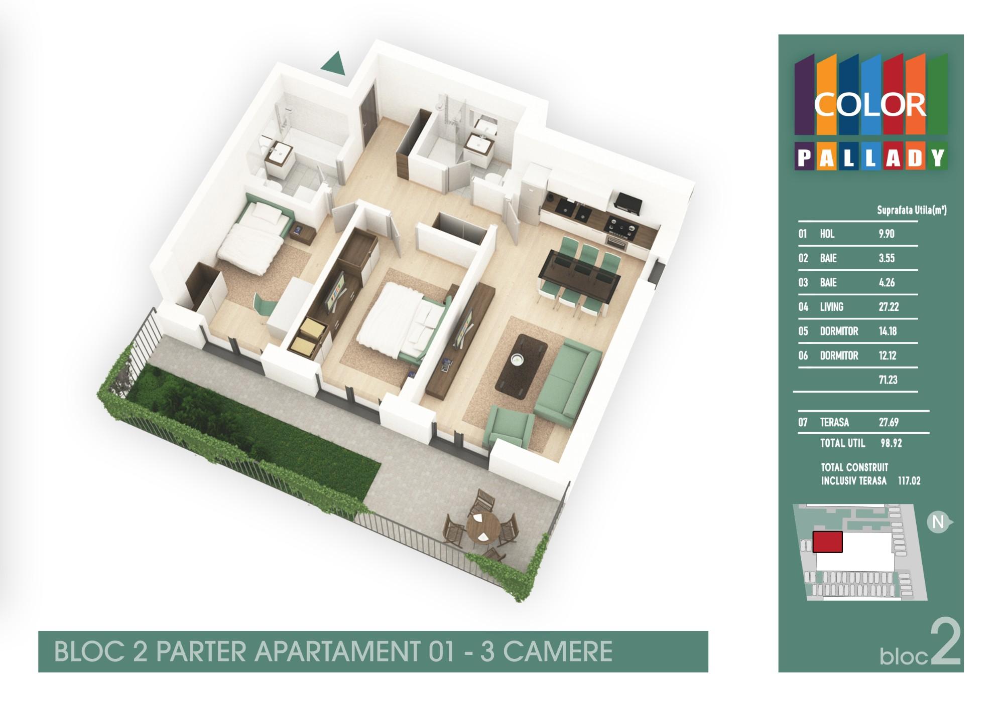 Bloc 2 - Parter - Apartament 01