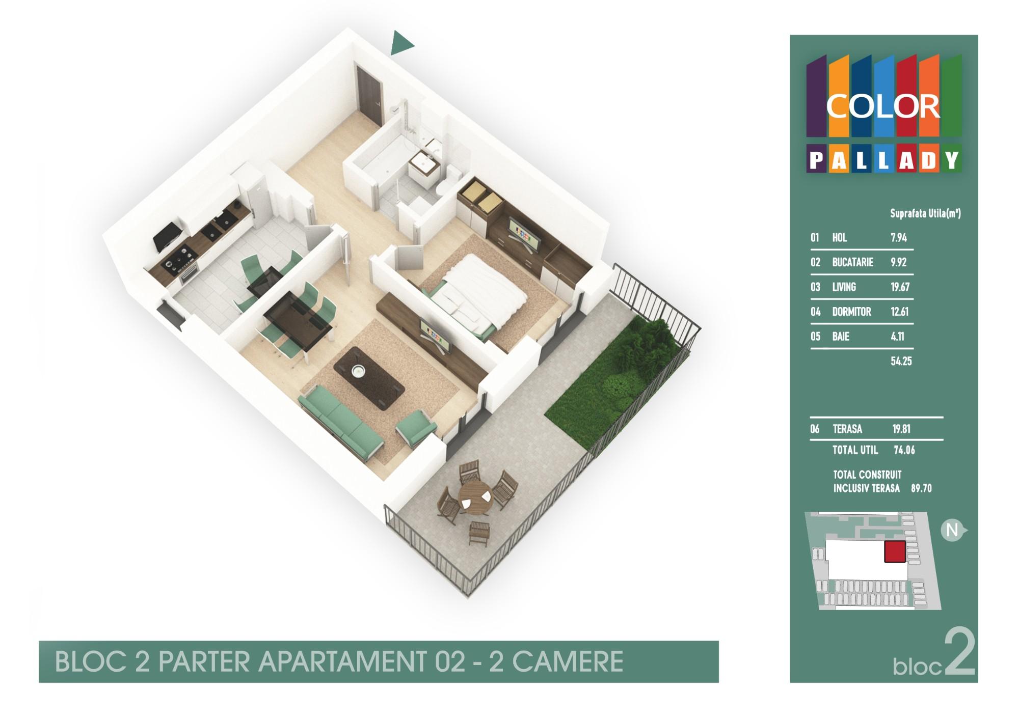 Bloc 2 - Parter - Apartament 02