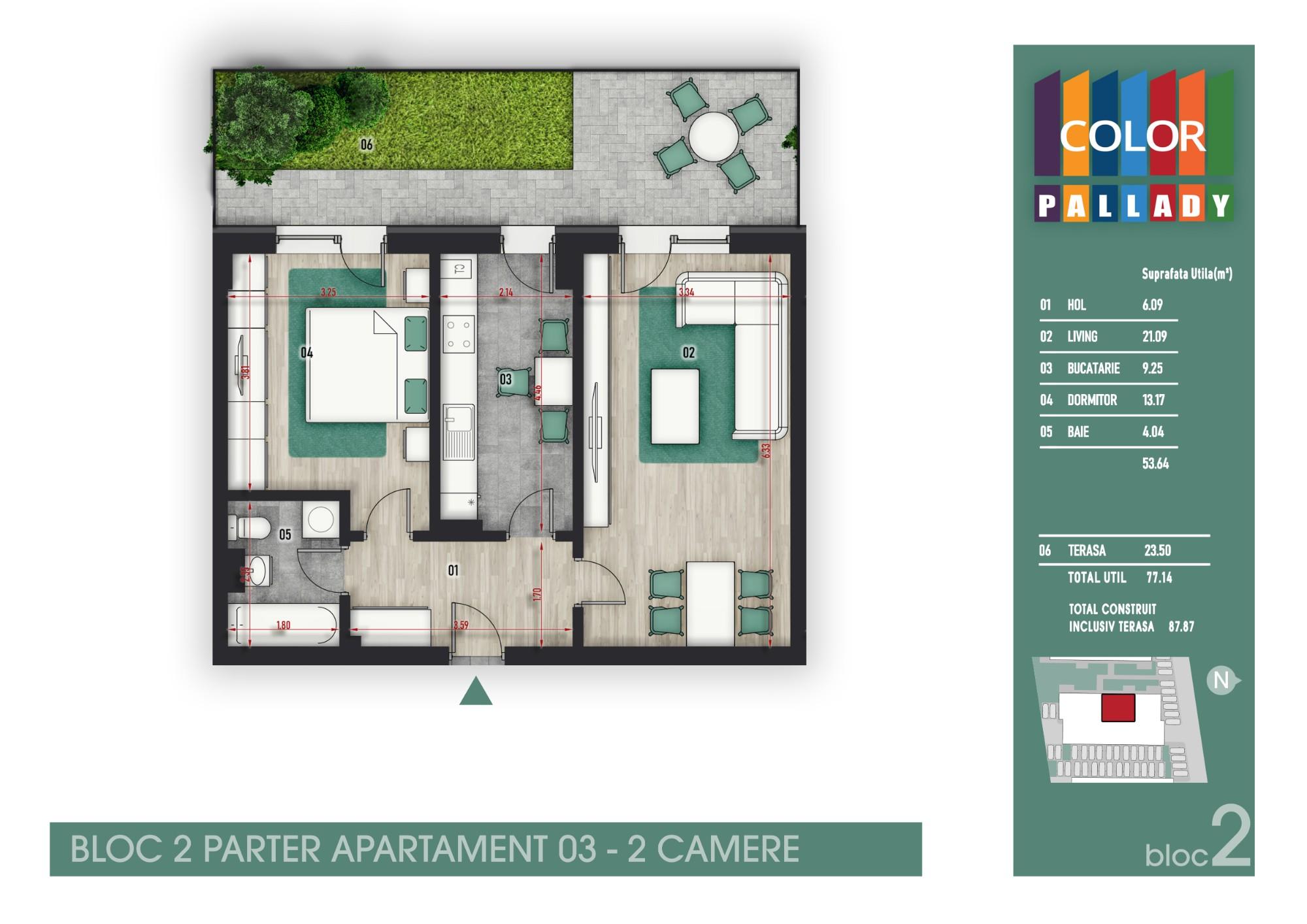 Bloc 2 - Parter - Apartament 03