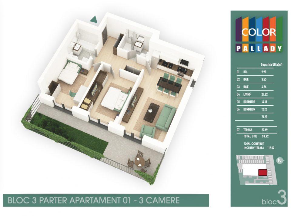Bloc 3 – Parter – Apartament 01