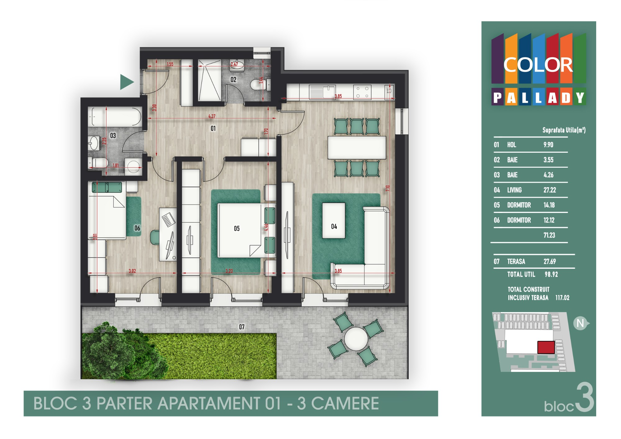 Bloc 3 - Parter - Apartament 01