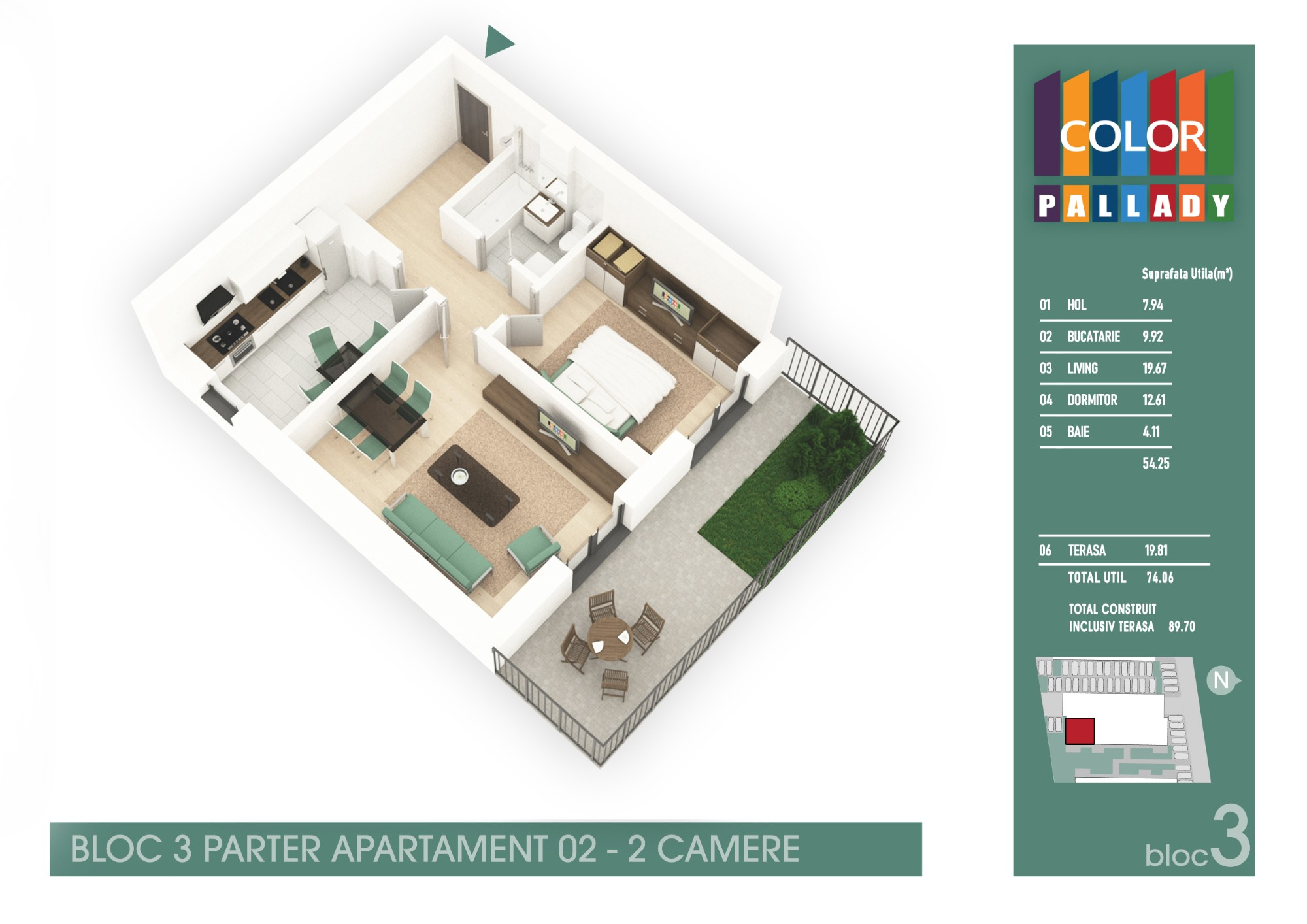 Bloc 3 - Parter - Apartament 02