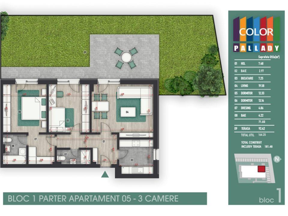 Bloc 1 – Parter – Apartament 05